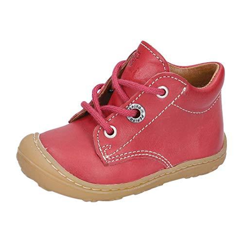 RICOSTA Unisex - Kinder Lauflern Schuhe Cory von Pepino, Weite: Mittel (WMS), schnürschuh schnürstiefelchen flexibel,Kamin,22 EU / 5.5 Child UK