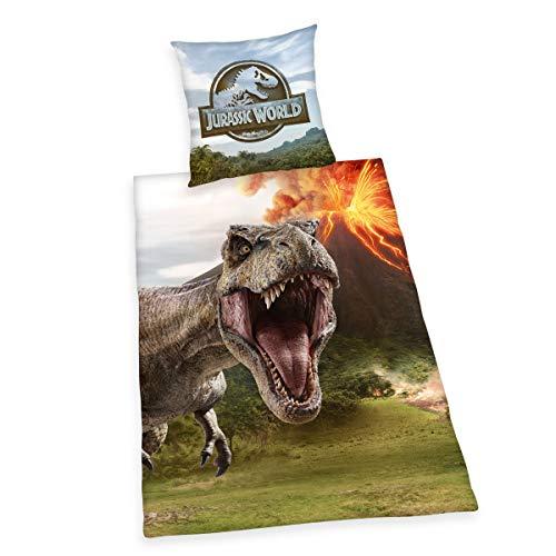 Herding Jurassic World - Juego de Ropa de Cama, algodón, Multicolor, 80 x 80 cm, 135 x 200 cm