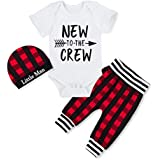 Newborn Baby Boy Clothes Plaid New to The Crew...