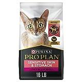 Purina Pro Plan High Protein Sensitive Skin & Stomach Dry Cat Food, Lamb & Rice Formula - 16 lb. Bag (Packaging May Vary)