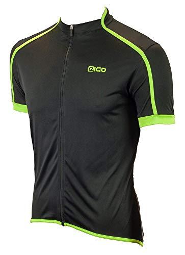 Eigo Classic Maillot à manches courtes pour homme Noir/vert Taille S