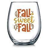 Copa de vino sin tallo, diseño de otoño; para otoño dulce y...