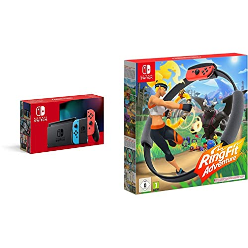 Nintendo Switch Néon + Ring Fit Adventure