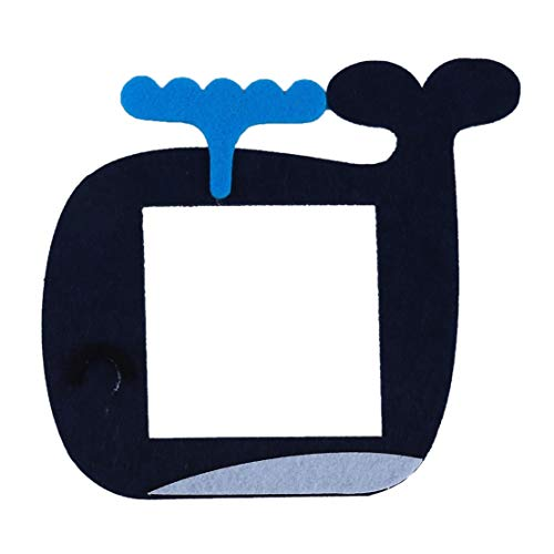 Kissherely Cartoon Tiere Filz Lichtschalter Abdeckung Nette Schalter Schutz Aufkleber Kinderzimmer Kinderzimmer Dekorationen (Whale)