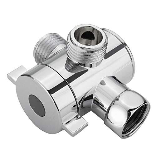 UKtrade - Válvula adaptador en T de alta calidad de 1/2 pulgadas, 3 vías para inodoro bidé y ducha desviador de válvula
