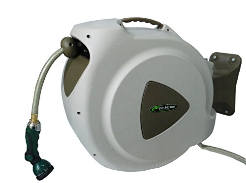 RL Flo-Master 65HR8 Retractable Hose Reel, 65 Feet, Brown