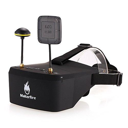 Goolsky Makerfire EV800D 5.8G 40CH Receptor doble Antena doble FPV Gafas con DVR para QAV 250 220 210 Racing Quadcopter