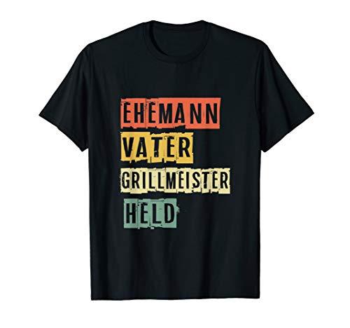 Ehemann Vater Grillmeister Held Vatertag Geschenk T-Shirt
