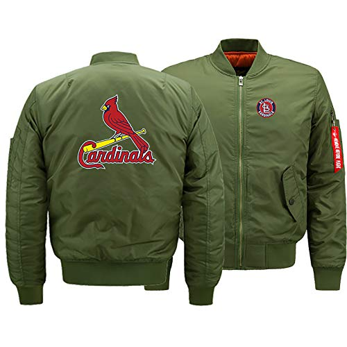 GMRZ Unisex 3D Sweatjacke, MLB Mit St. Louis Cardinals Logo Design Major League Baseball Team Sport Jacke Fans Jerseys Herren Cardigan Winter Sportswear,D,XXL