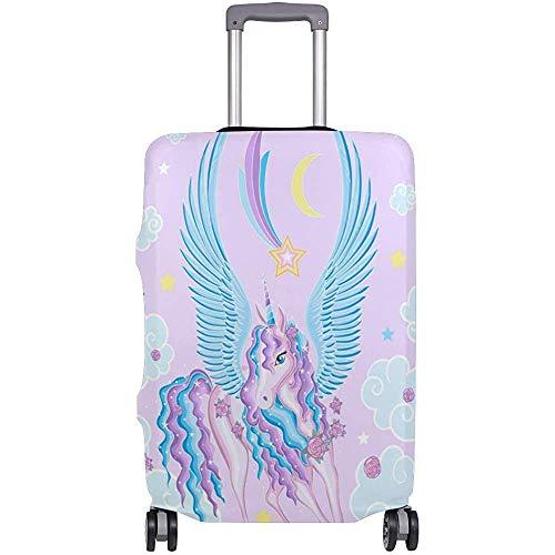 Funda de Equipaje Hermoso Protector de Maleta con alas de Unicornio Equipaje de Viaje Talla S