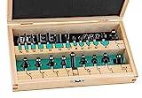 ENT 09022HKB Set di frese da 22 pz. in scatola di legno - codolo 8mm