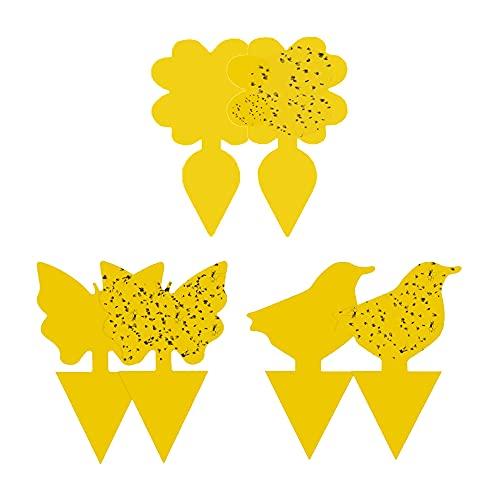 sinzau Gelbtafeln, Doppelseitiger Gelbsticker, Gegen Trauermücken, Blattläuse, Thripsen und Weiße Fliegen, 30 Stück
