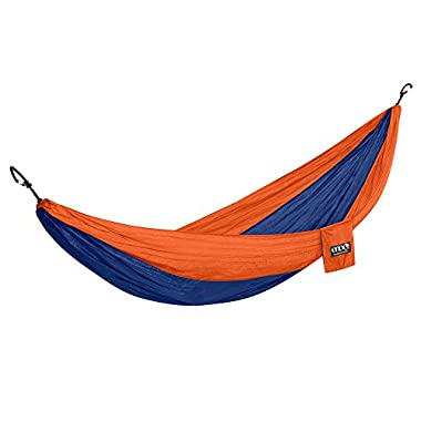 Eagles Nest Outfitters ENO DoubleNest Hammock, Portable Hammock for Two, Sapphire/Orange (FFP)