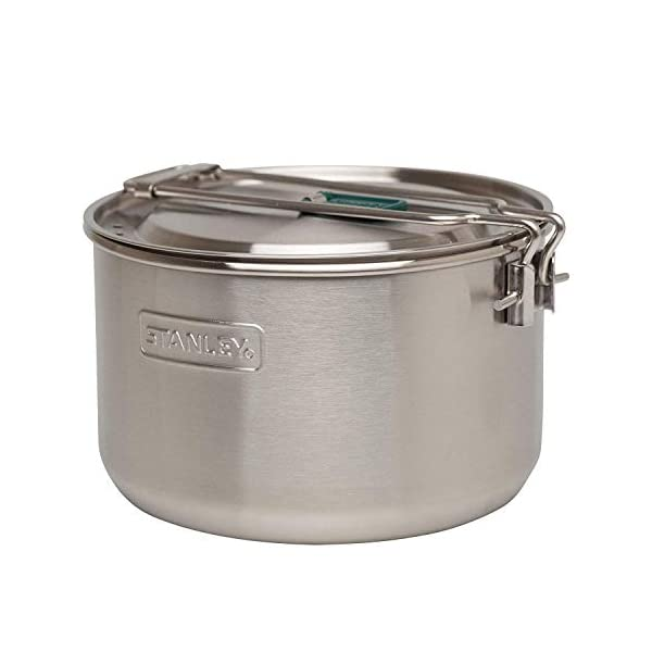 Stanley Adventure Series Prep Cook Set 18/8 Stainless Steel Pot Vented Lid Prep kit Spatula Ladle 20oz Bowl Nesting…