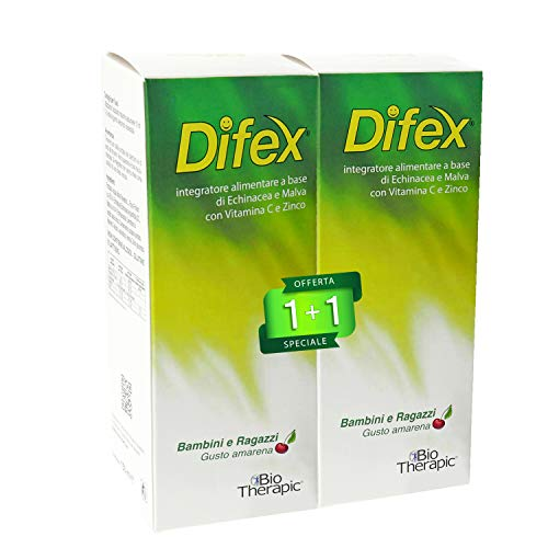 DIFEX® | Integratore Difese Immunitarie Bambini e Ragazzi | Con Echinacea, Zinco e Vitamina C | 150...