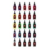 One Tattoo World Premium Tattoo Ink Set | 25 Colors | 15 ml Bottles