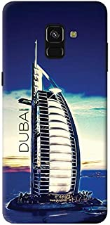 Stylizedd Samsung Galaxy A8 Plus (2018) Slim Snap Case Cover Matte Finish - Burj Al Arab - Dubai