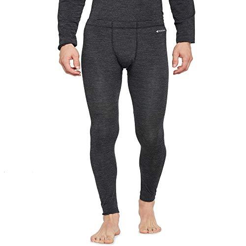 Kosha Men's Merino Wool & Bamboo Thermal Pant (Charcoal,32)