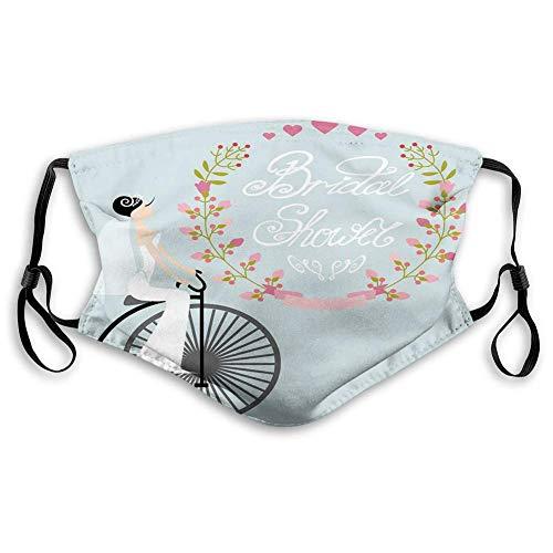 Coupe-vent au charbon actif Ma-sk, robe de mariée avec fleurs de vélo, décoration du visage pour adolescents et enfants (S)