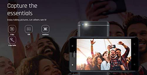 "myPhone Prime 2 Silber 5.5"" HD IPS Smartphone ohne Vertrag Günstig, Quad-Core 1.3Ghz, 3000mAh, dual SIM, 16GB ROM, GPS, Bluetooth, Premium Design, 8Mpx HDR Kamera, 2.5D Glas, Android"