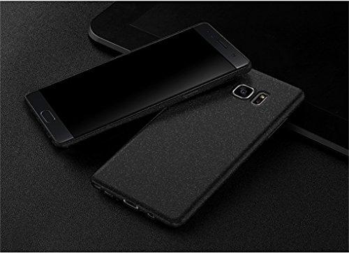 Bllosem Huawei P9 Plus Hülle Neu Ultra Slim Sand Rock Exquisite Reale Haut Gefühl Ganzkörper Schutzhülle Hülle für Huawei P9 Plus Hülle Schwarz - 3