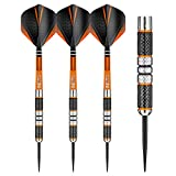 RED DRAGON Amberjack 2: Steel Dartpfeile 21 Gramm Profi Steeldarts Set, 3 x Steel Darts mit Flights und Schäfte