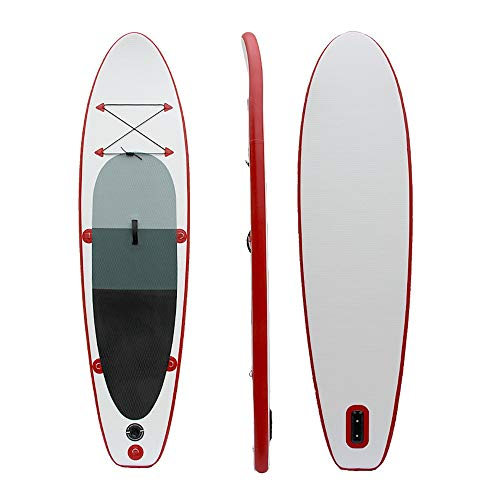 ZHBD Tabla Hinchable Paddle Surf Rojo 305x76x10cm Conjunto Consejo Permanente Sup Inflable Paddle Excelente Estabilidad (Color : Rojo, Size : 305x76x10cm)