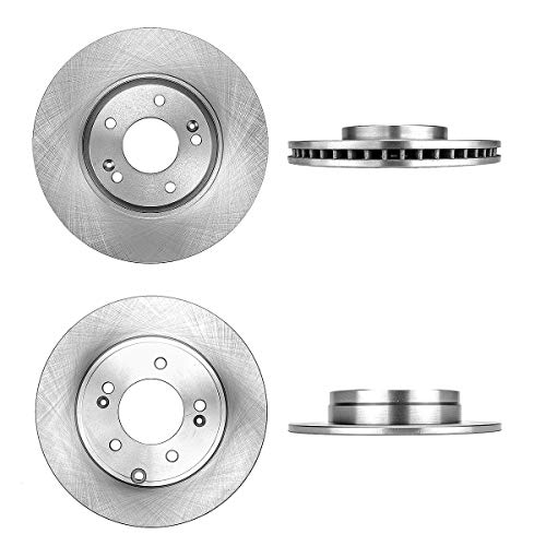 CRK13660 FRONT 300 mm + REAR 283 mm Premium OE 5 Lug [4] Brake Disc Rotors