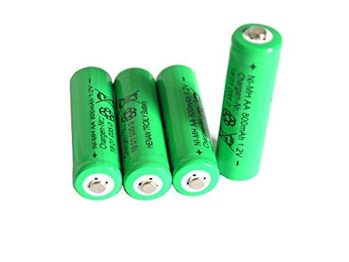 Solar-Akku leistungsstarke wiederaufladbare Batterien NiMH AA- 800mAh (Akku AA 1Set - 4 Stück)