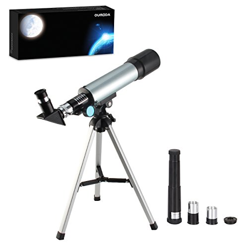 Telescope, Oumoda Travel Scope, 90 X Refractor Telescope, Astronomy Telescope Tabletop Nature Exploration Gifts Toys for Kids, Adults Sky Star Gazing, Birds Watching