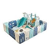 Faltbare Baby-Zaun, Kinder Aktivität Game Center mit Krabbeln Mat Einbau-Folien, geeignet for Kleinkinder ab 6 Monate bis 5 Jahre alt