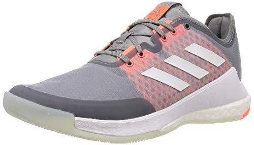 adidas Herren Crazyflight M Leichtathletik-Schuh, DREI Graue F17 FTWR Weiss Signal Coral, 44 EU