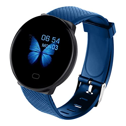 zyz D19 Smart Watch Tasa del Corazón De Las Mujeres Y La Salud De La Presión Arterial, El Rastreador De Fitness, La Impermeable, La Pulsera De Bluetooth De Los Hombres,Azul