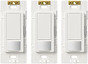 Lutron MS-OPS5M-WH-3 Maestro Sensor Switch Maestro 5A Single-Pole/Multi Location Motion Sensor Switch For Lights & Exhaust Fans (3 Pack)White