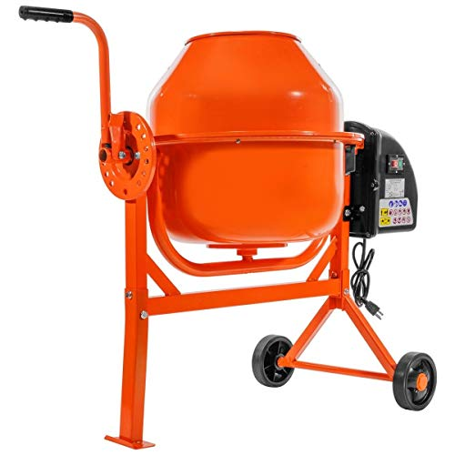affodable Easy-to-carry electric concrete mixer 2-1 / 4 cubic feet, mortar, Parisian plaster, seed mixer