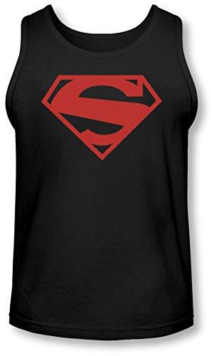 Superman - - 52 Rouge Bloquer Débardeur Homme, Medium, Black