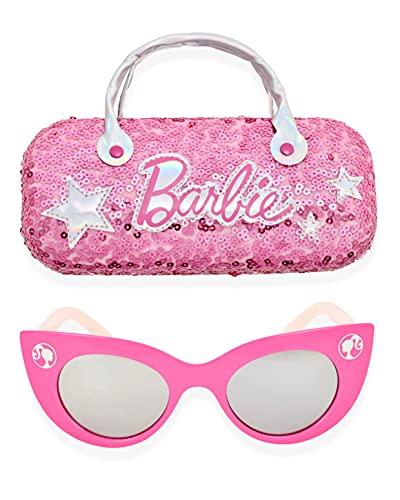 Barbie Girl's Cat Eye Sunglasses and Handled Hard Case Set (Pink)
