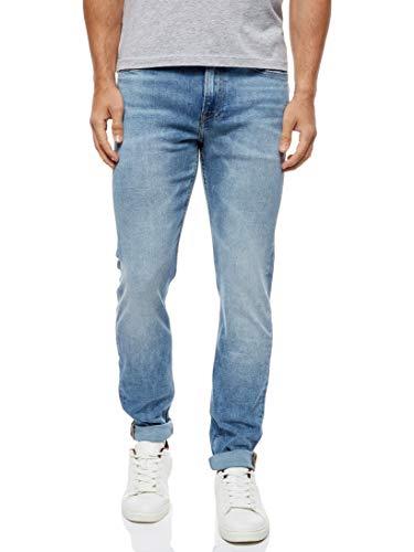 Calvin Klein Ckj 058 Slim Taper Jeans Straight, Blu (DA001 Light Blue 1AA), W33/L32 (Taglia Produttore: 3233) Uomo