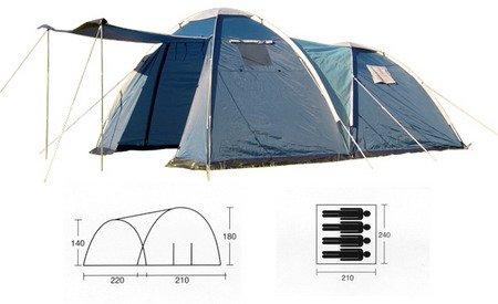 Doppeltes Iglu-Zelt für 4 Personen