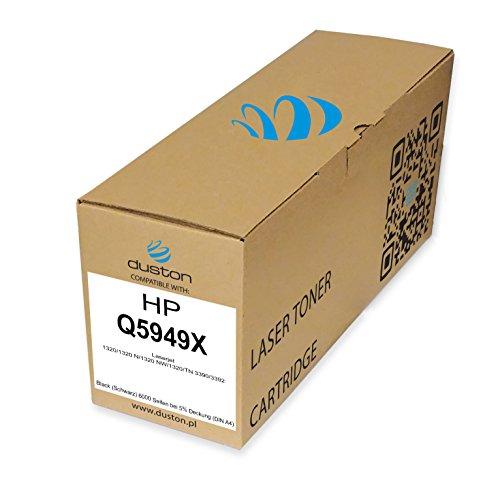 Q5949X, 49X Gerecyclede zwarte Duston toner, compatibel met HP Laserjet 1320 1320 N 1320 NW 1320 TN 3390 3392