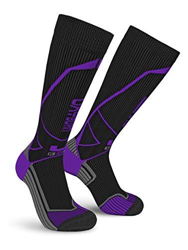 Oxyburn Run Evosmart-HD Kneehigh Energr S Chaussettes Homme, Black/Galaxy, Size 35/38