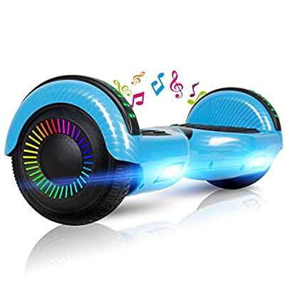 """LIEAGLE Hoverboard, 6.5"""" Self Balancing Scooter Hover Board with Bluetooth UL2272 Certified Wheels LED Lights for Kids Adults(A02 Black)"""