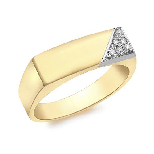 Carissima Gold Anillo de hombre con oro amarillo de 9K, diamantes, talla 19