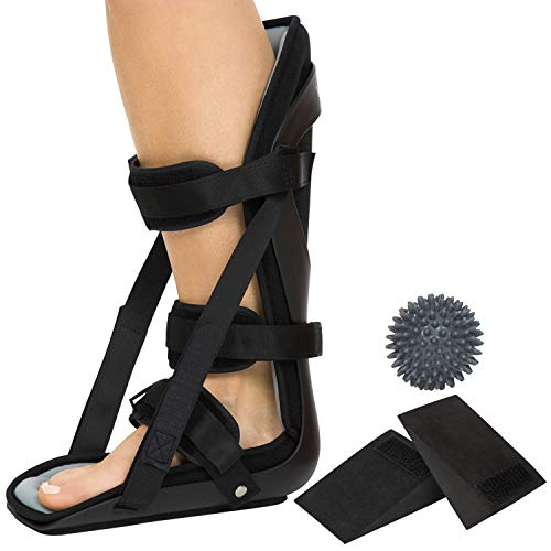 ALLEVIATE FOOT PAIN AND INFLAMMATION: Maintaining a neutral foot position that gently stretches the plantar fascia, the Vive hard night splint reduces pain and inflammation due to plantar fasciitis, drop foot and Achilles tendonitis. Gently stretchin...