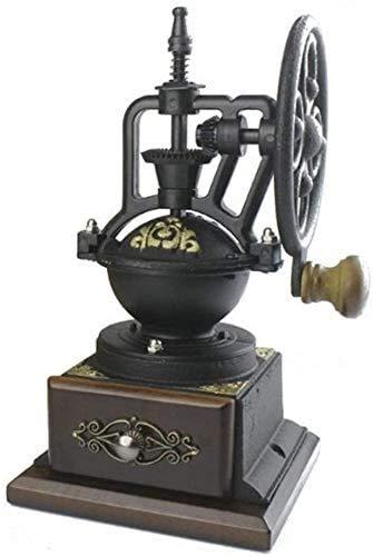 L.TSA Kaffeemaschine Espressomaschine Langlebig Klassisch Vintage Style Manuelle Handkurbel Kaffeebohnenmühle Travel Home Multifunktionale Retro Arbeitssparende Handmühle Kleines Handrad Gen