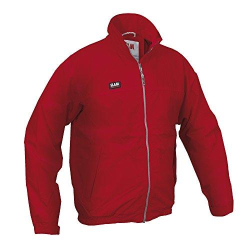 Slam - Chaqueta de marinero de verano para hombre, repelente al agua, resistente al viento, dos bolsillos internos, 100% nailon, XS, Rojo