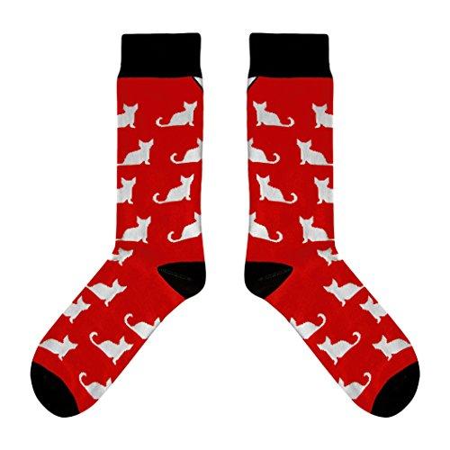 CUP OF SOX Herren & Damen Baumwolle Lustige Bunte Socken mit Schafe in der Pappbecher,Rot,41-44
