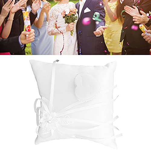 Almohada de anillo, tela de almohada de anillo cuadrada con alto rendimiento para invitados a bodas