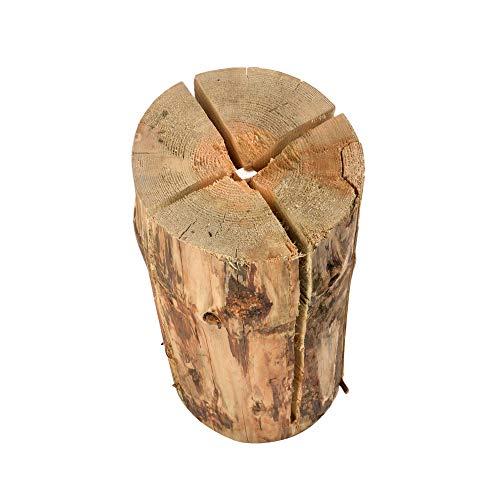 acerto 40366 Schwedenfeuer – 50 x 20cm * Sehr hohe Brenndauer * Inkl. Anzünder | Schwedenfackel Finnenfackel als Licht- und Wärmequelle Traumfeuer als Outdoor-Kochstelle nutzbar Baumfackel Holzfackel