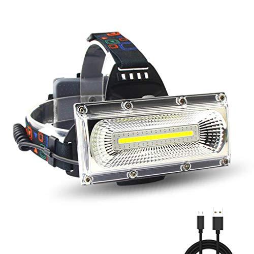 ZQQ Linternas Frontales, Linterna Súper Brillante Recargable A Prueba De Agua 3 Modos De Iluminación para Camping Senderismo Caza Escalada